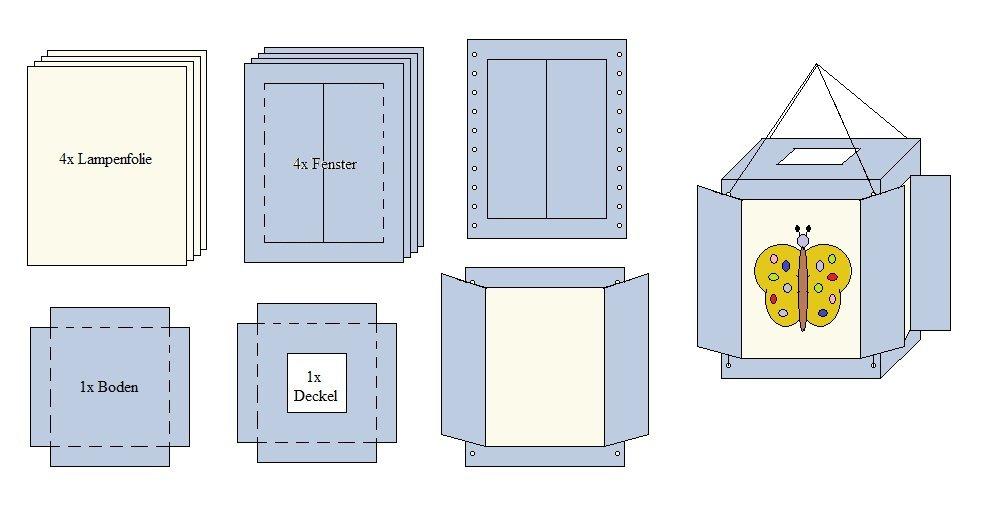 anleitung laterne aus folie basteln folien mit anleitung. Black Bedroom Furniture Sets. Home Design Ideas