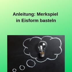 Anleitung Merkspiel in Eisform basteln